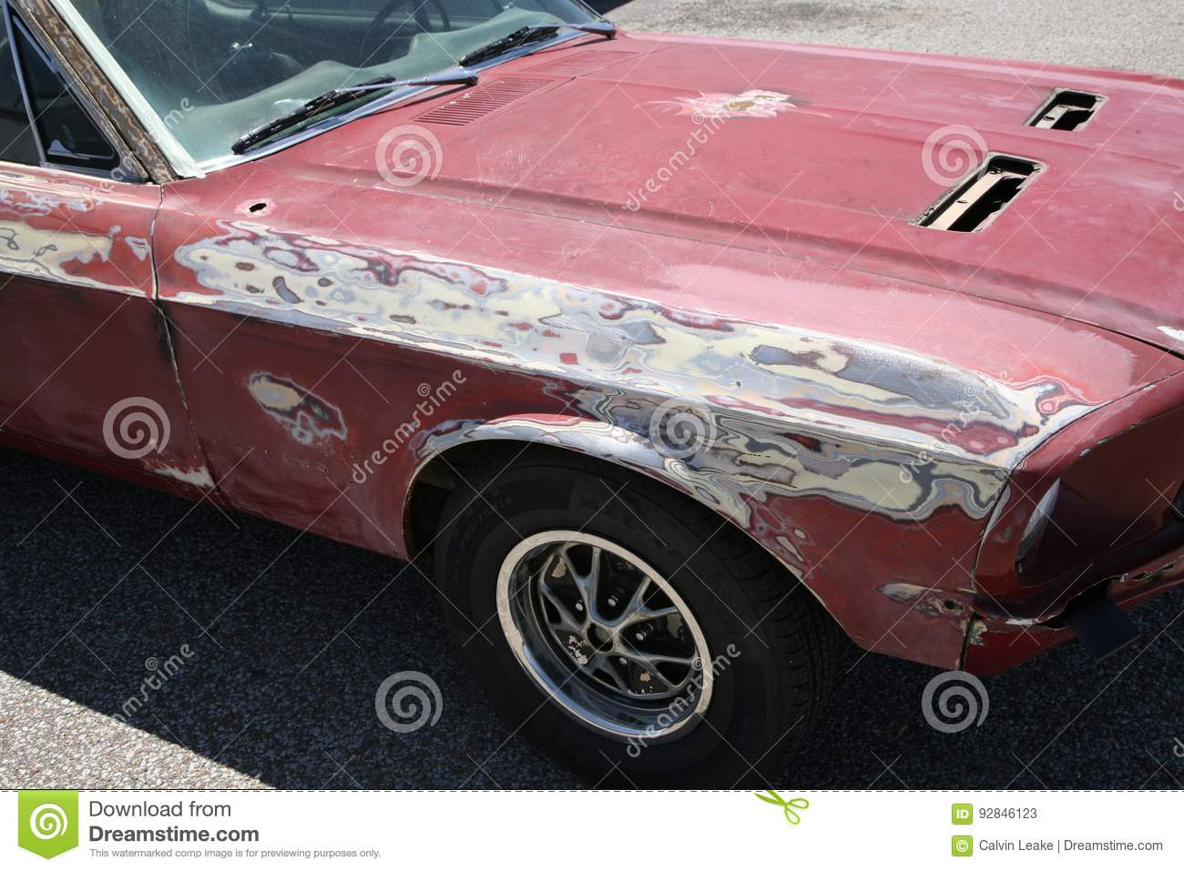 Paint Primer And Bondo On A Car Editorial Stock Photo