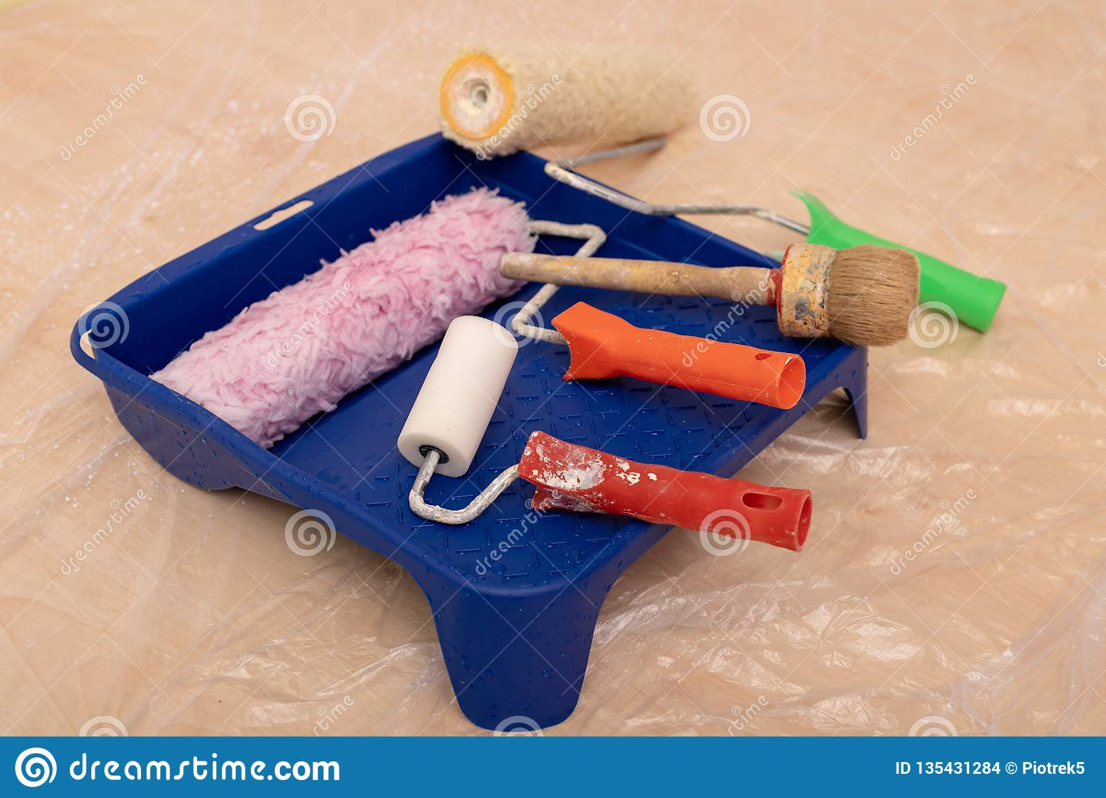 Paint Roller Brush And Other Accessories Renovation And Painting