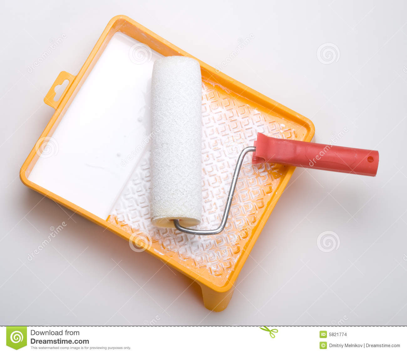 Paint Brush Paint Tray Roller Paint: Paint Roller And Tray Stock Photo. Image Of Doityourself