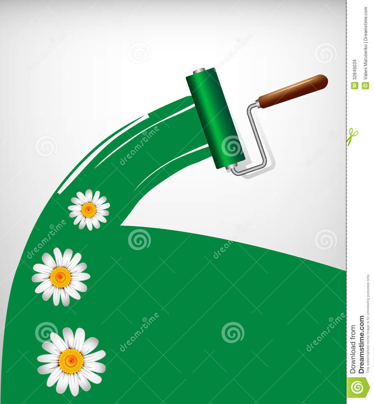 Paint rollers stock images image 32849034 for Eco friendly colours for painting