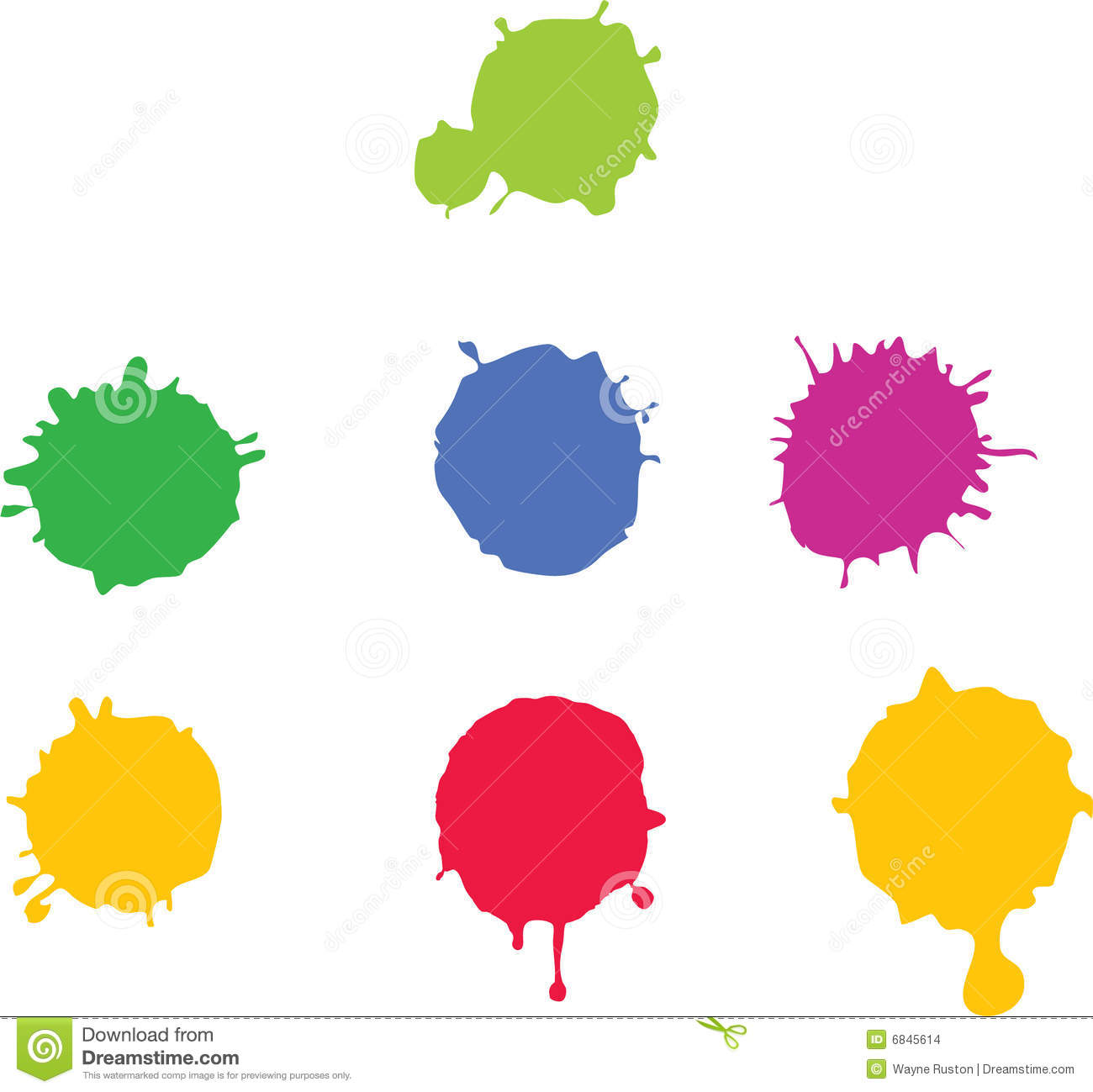 Paint Splat Stock Images - Image: 6845614