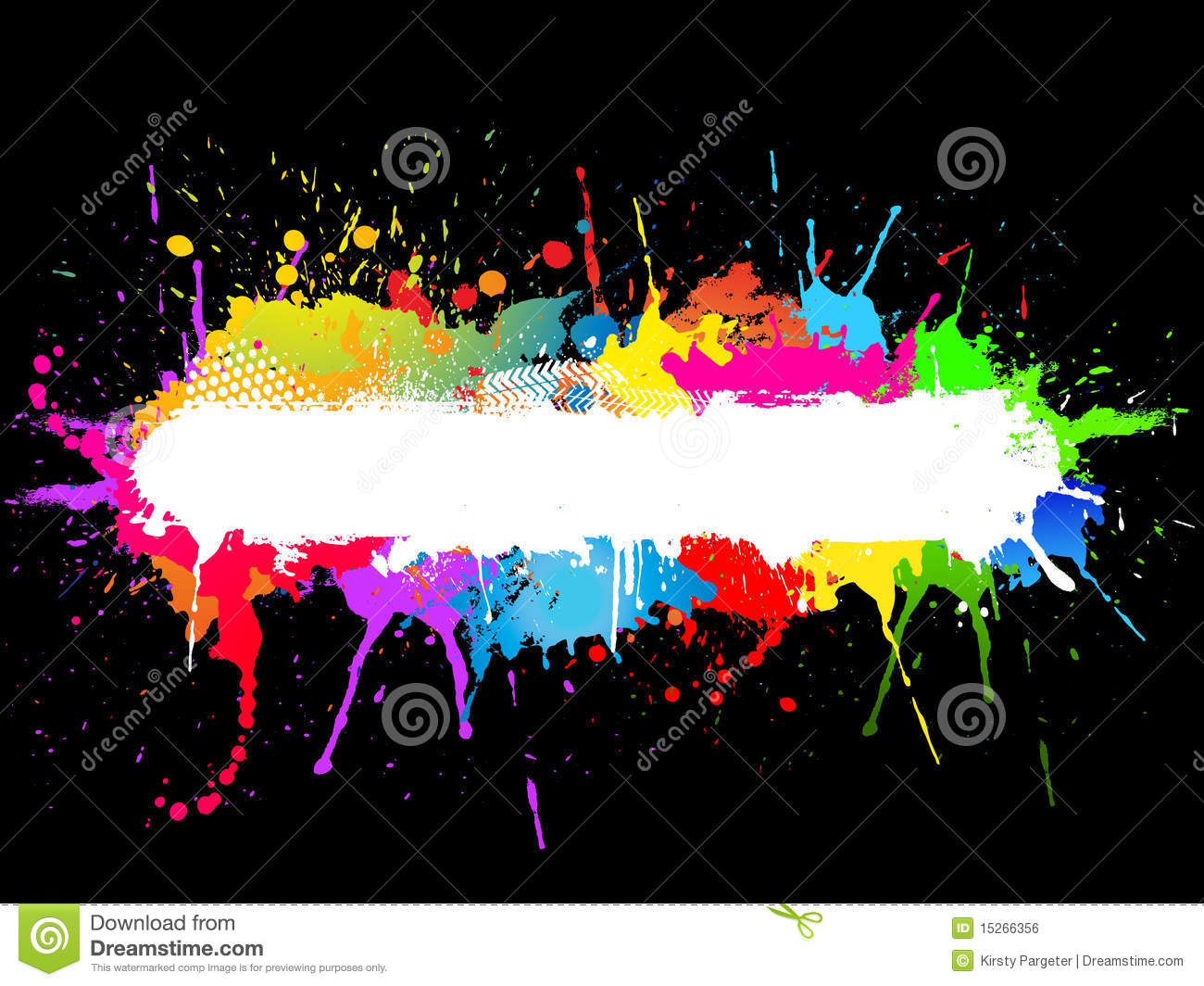 Paintball Splatter Background