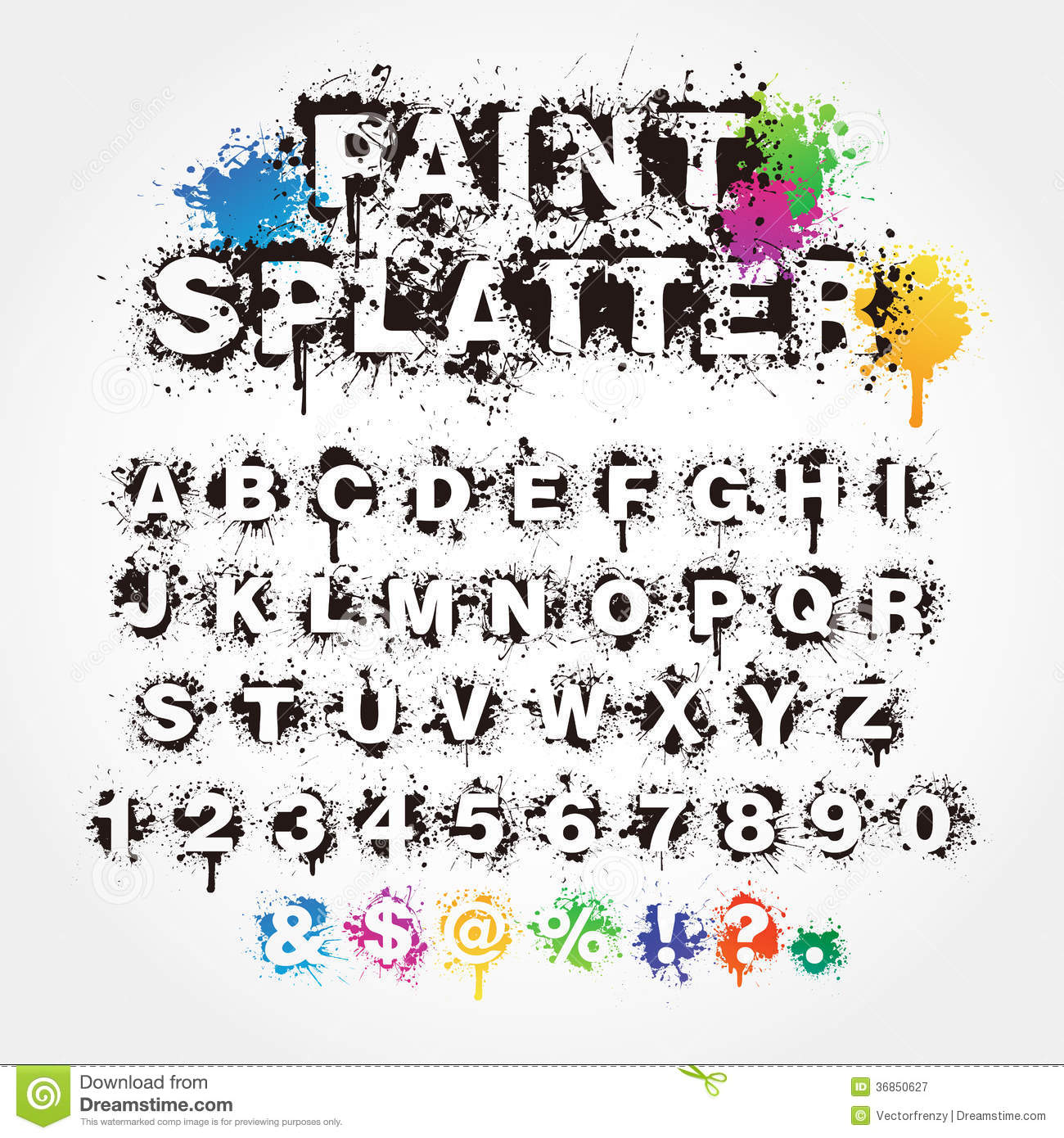 Brush To Paint Letters