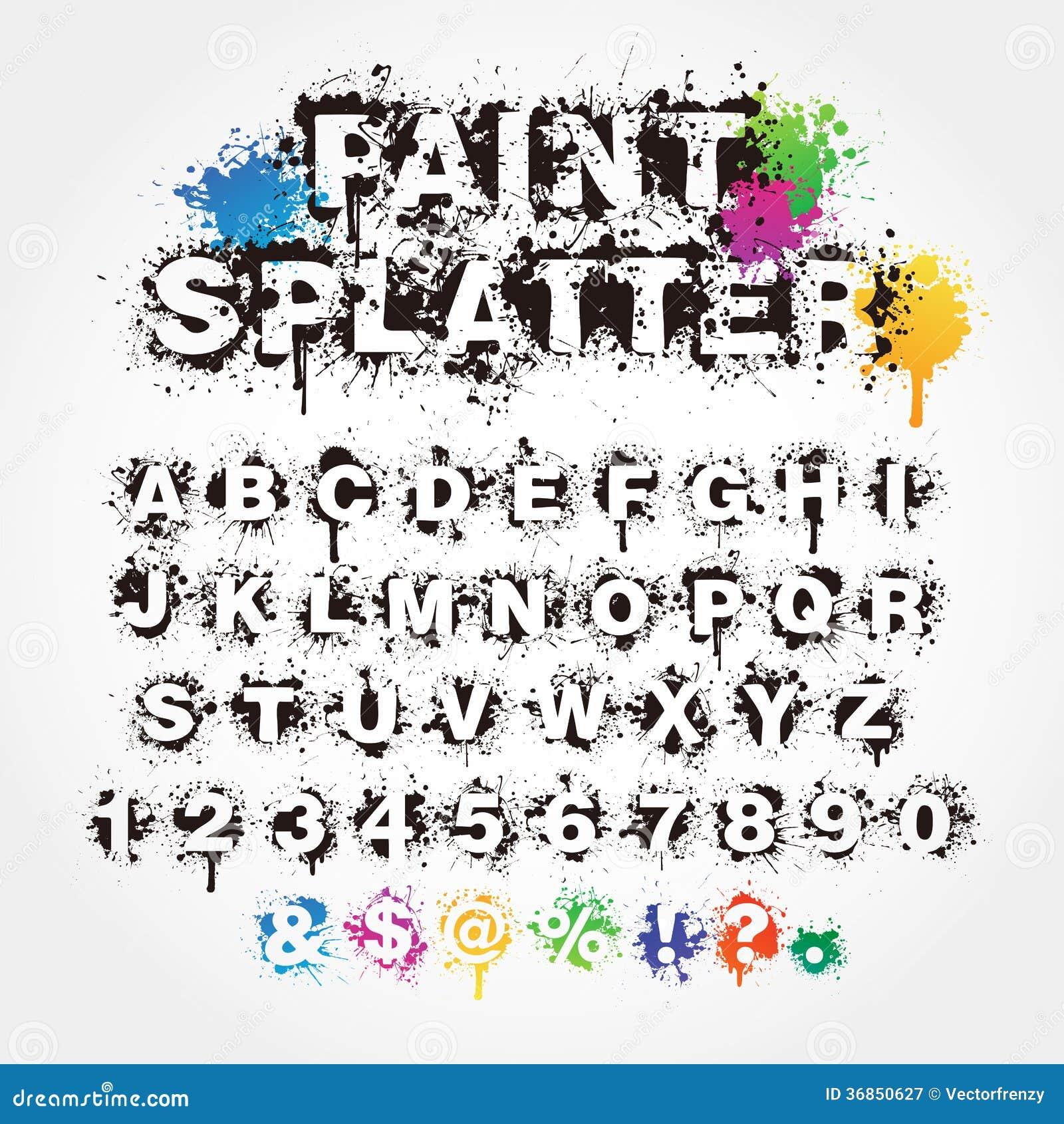 Font that looks like paint brush 11
