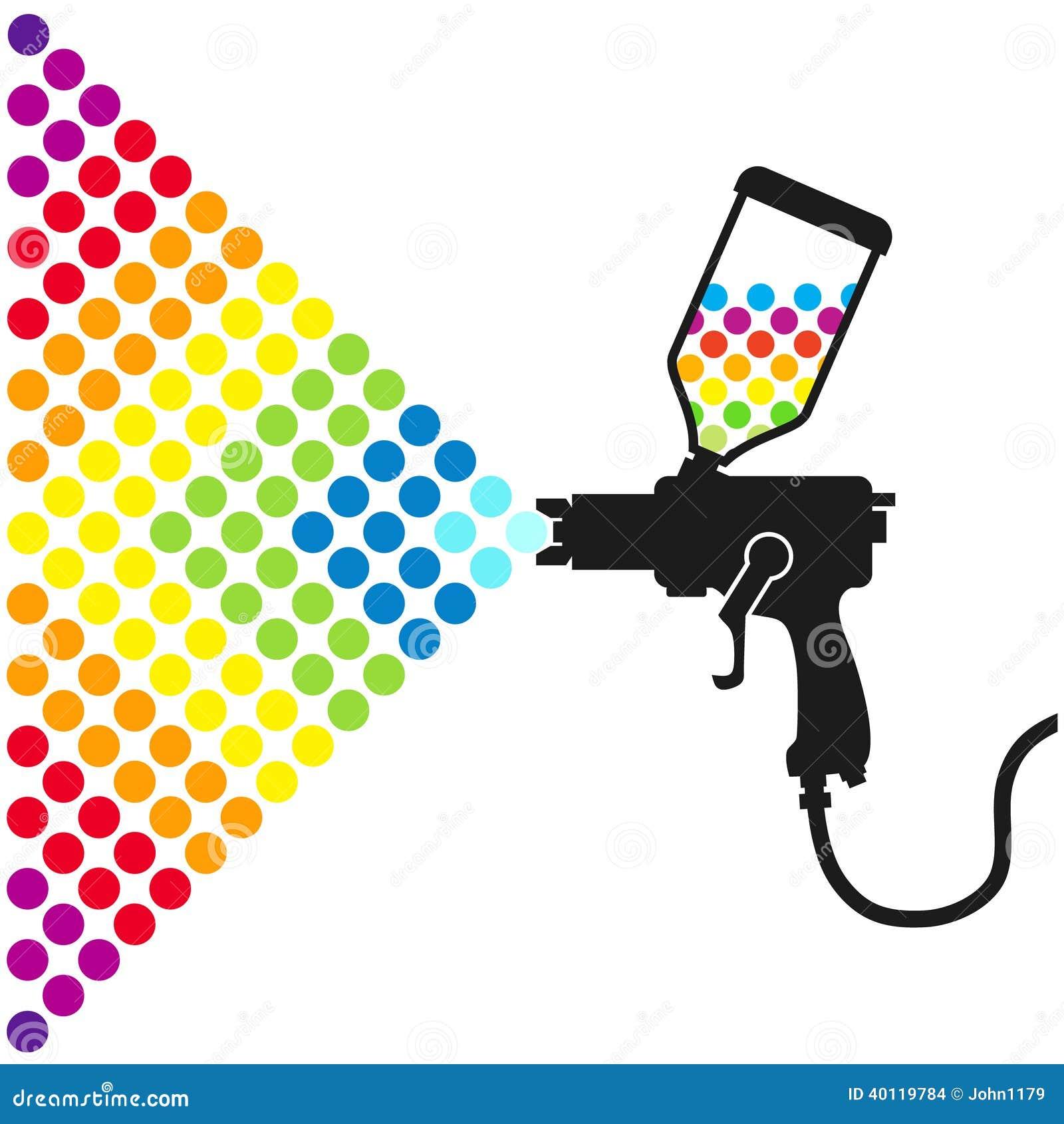paint spray gun stock vector illustration of equipment 40119784 rh dreamstime com spray paint vector brush spray paint vector brush illustrator
