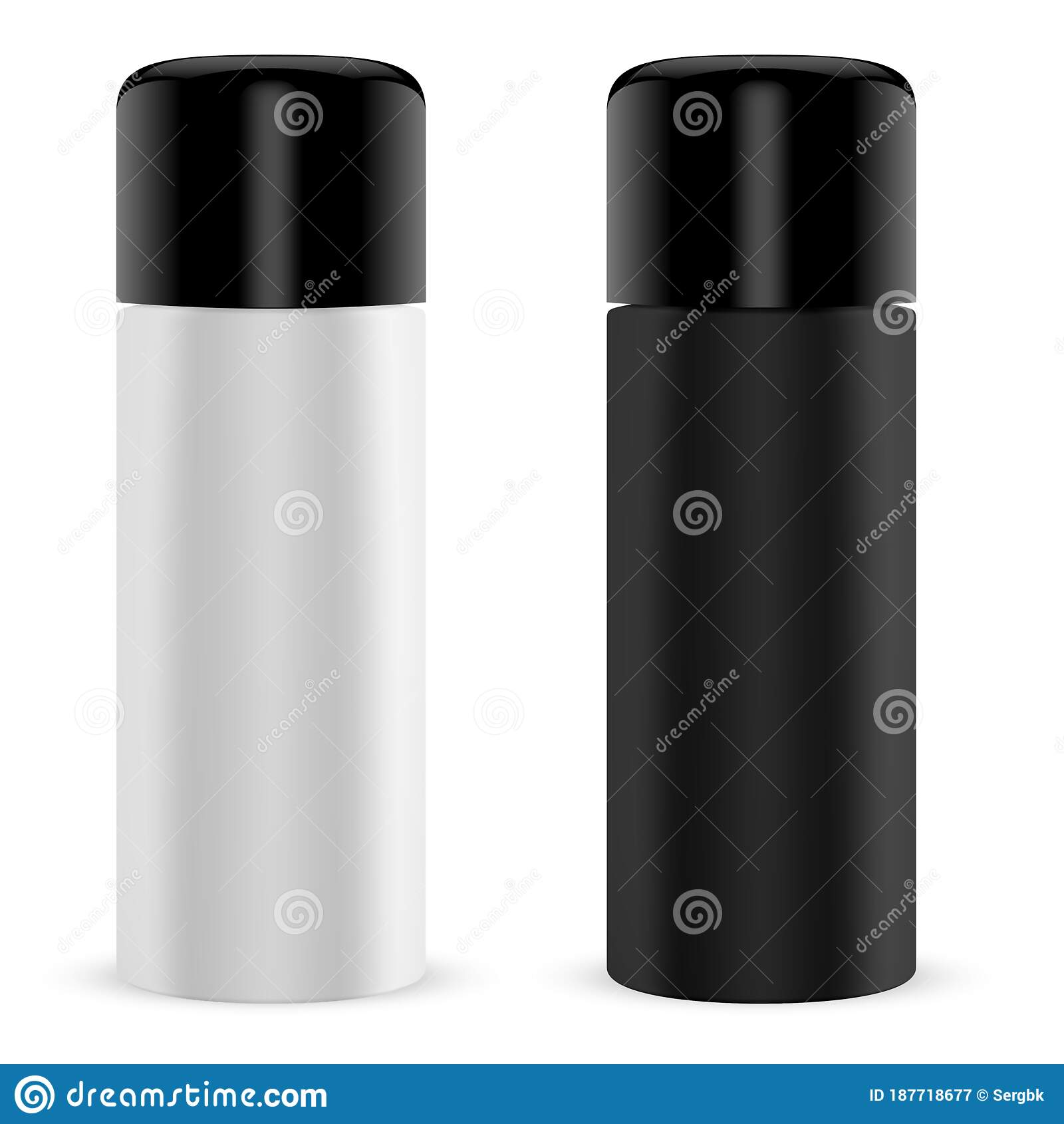 Paint Spray Tin Cylinder Can Mock Up 3d Container Stock Vector Illustration Of Grafitti Clear 187718677