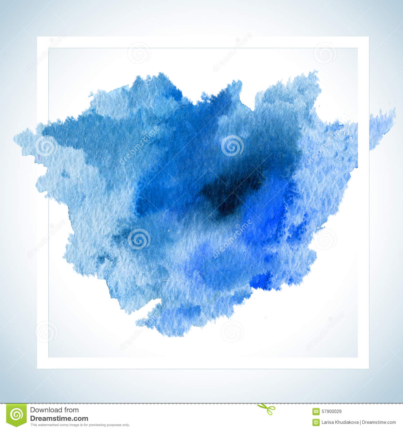 Paint stain card raster design watercolor stroke poster for Watercolor painting templates free