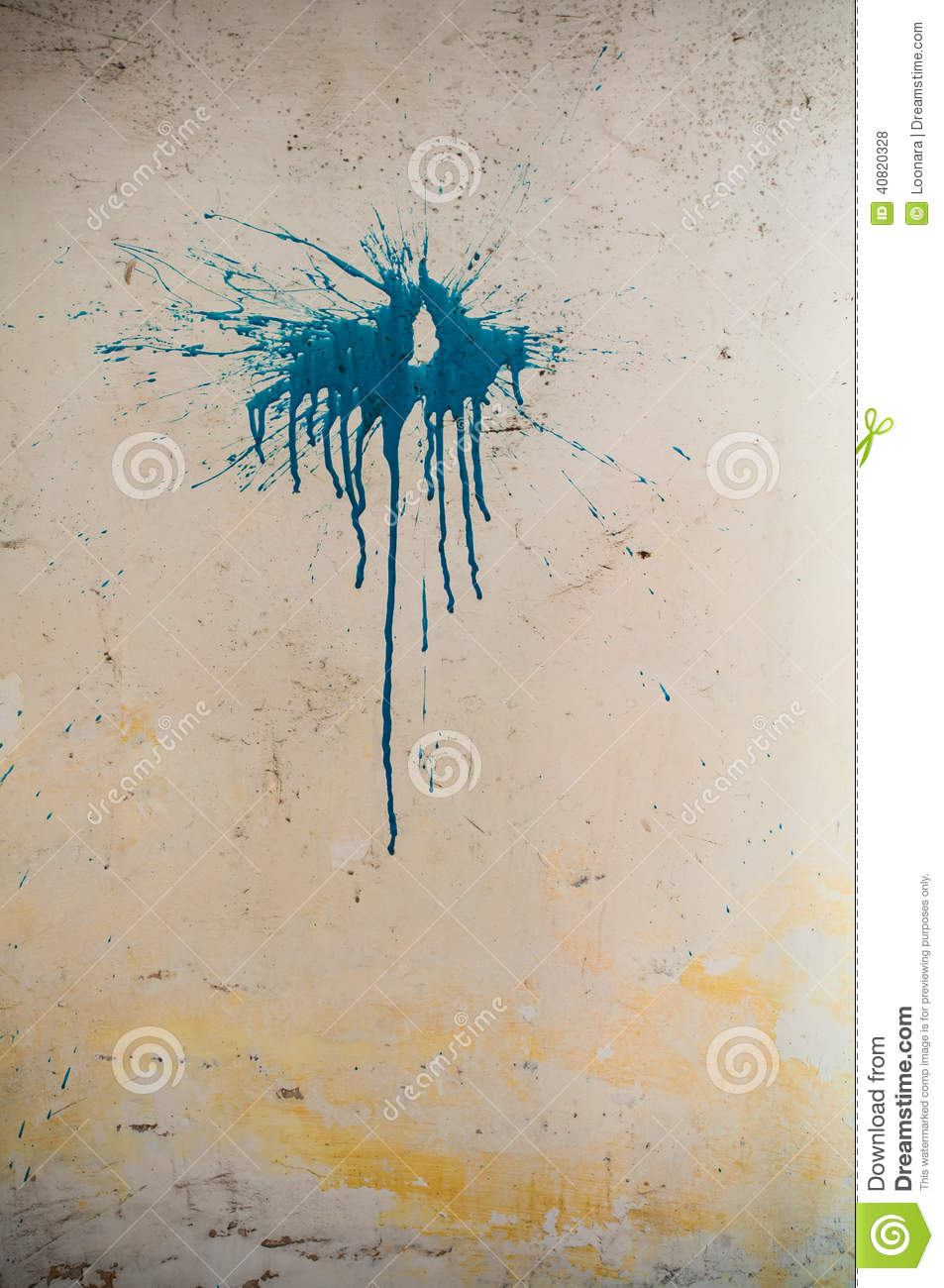 Paint Stain On A Wall Stock Photo Image 40820328