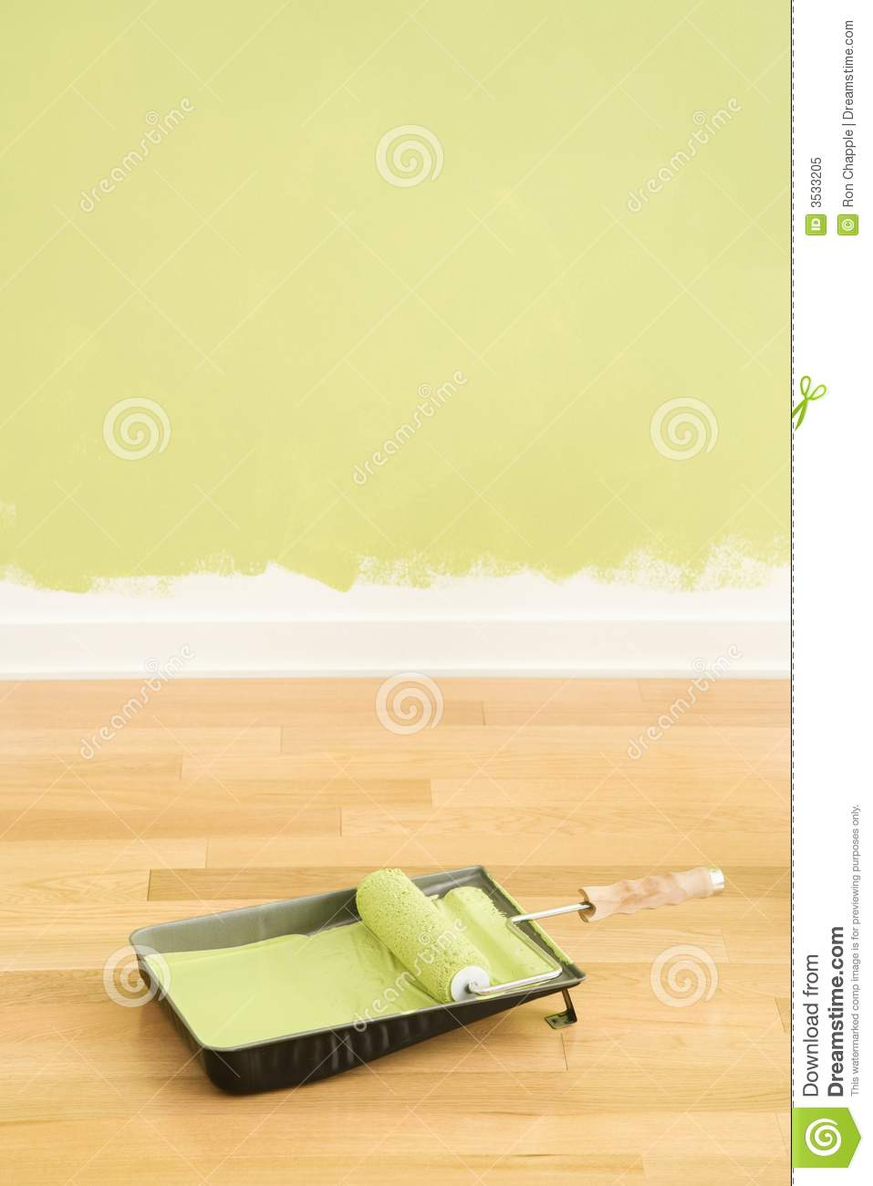 Paint supplies and wall royalty free stock photo image for Wall painting utensils