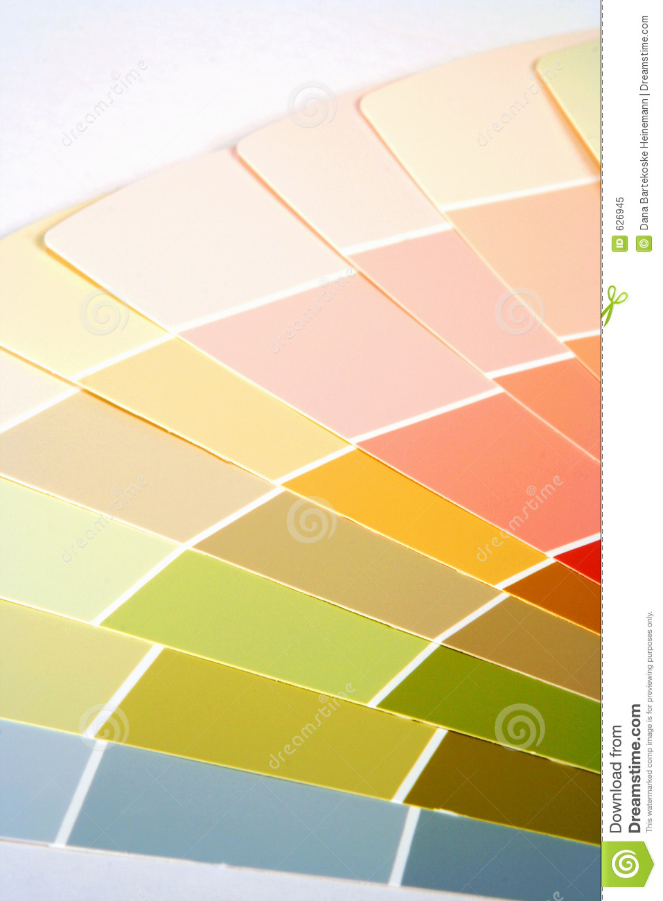Woman With Paint Color Swatches