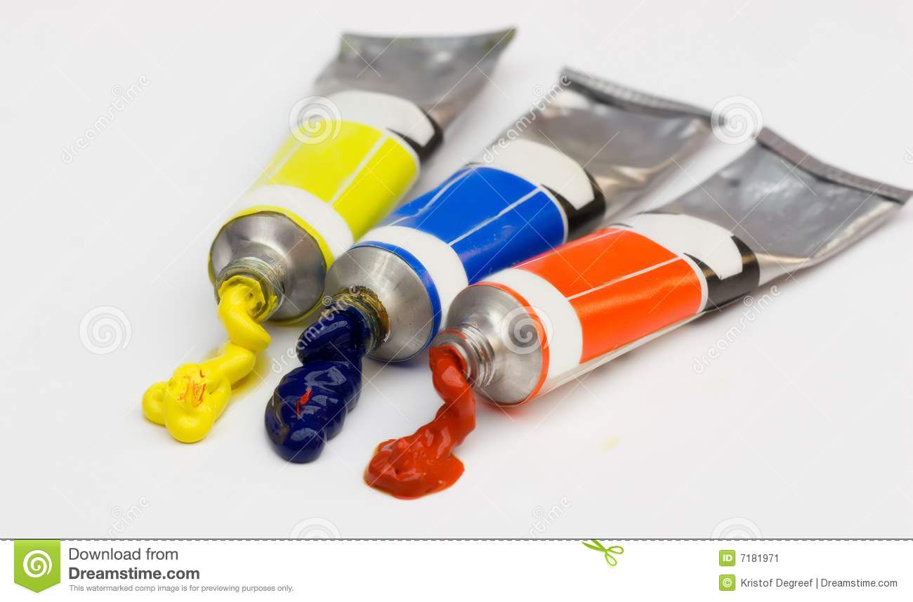 Various colors tubes - vector illustration