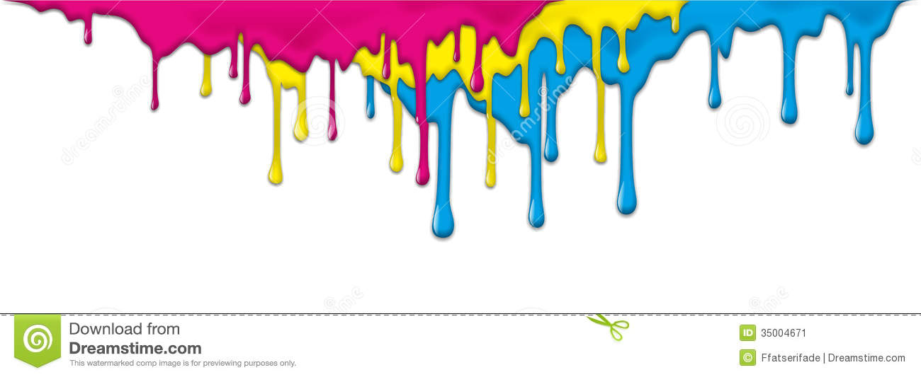 Dripping Paint Wall Design : Paint stock image