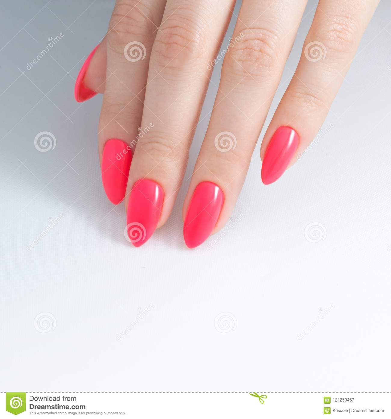 Paint Your Nails. Nail Polish, Gel Coating Stock Image - Image of ...