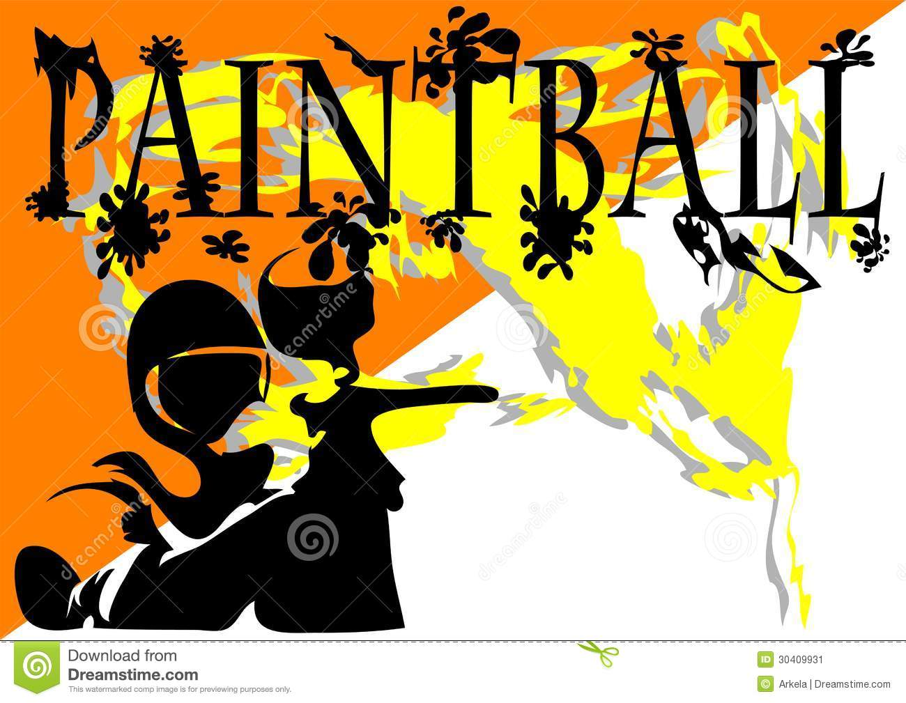 Paintball. Abstract Background Stock Image - Image: 30409931