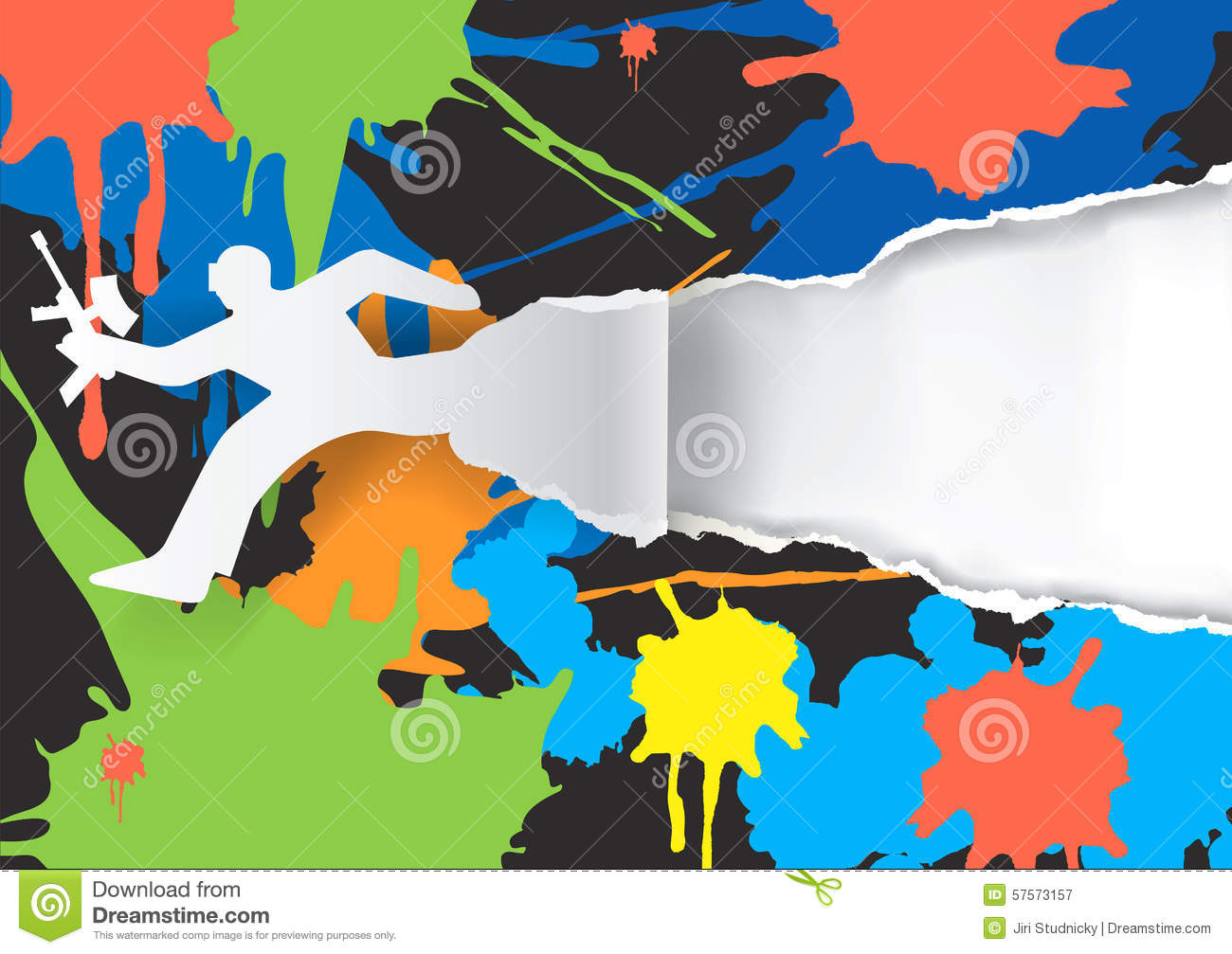 Paintball background stock vector. Illustration of activity - 57573157