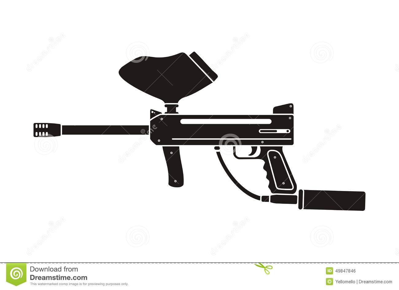 Paintball gun vector
