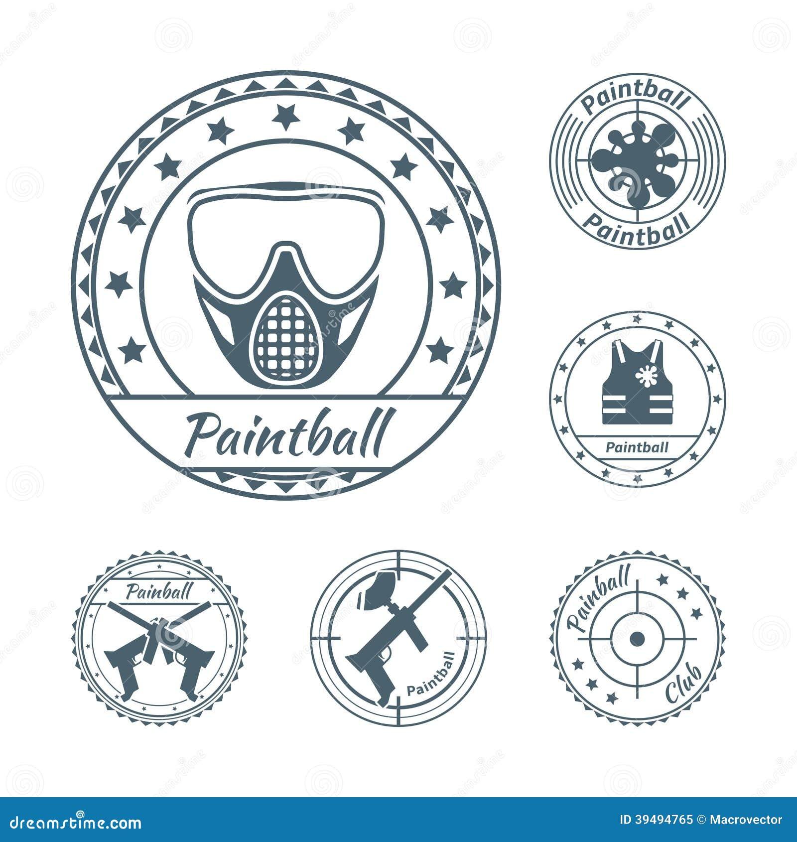 Paintball symbole ustawiający