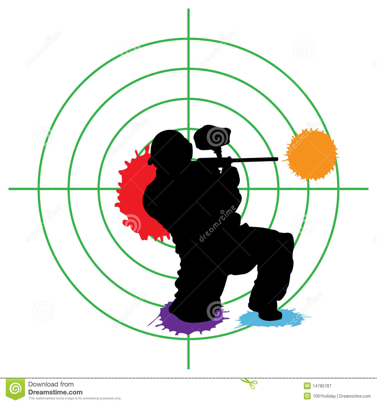 Paintball target