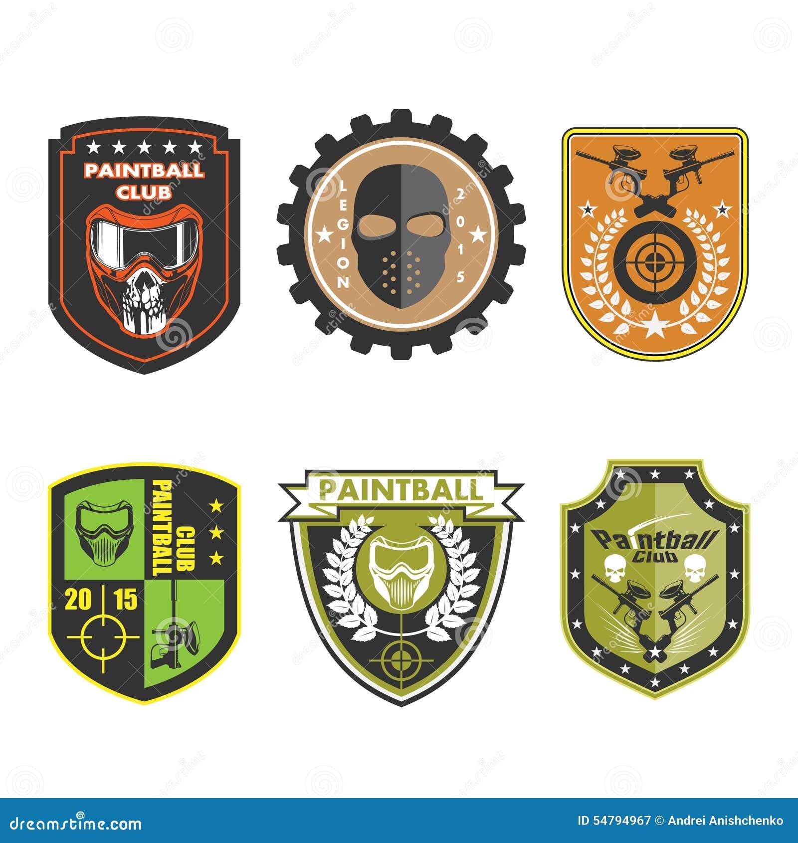Paintball Team Logo Badge