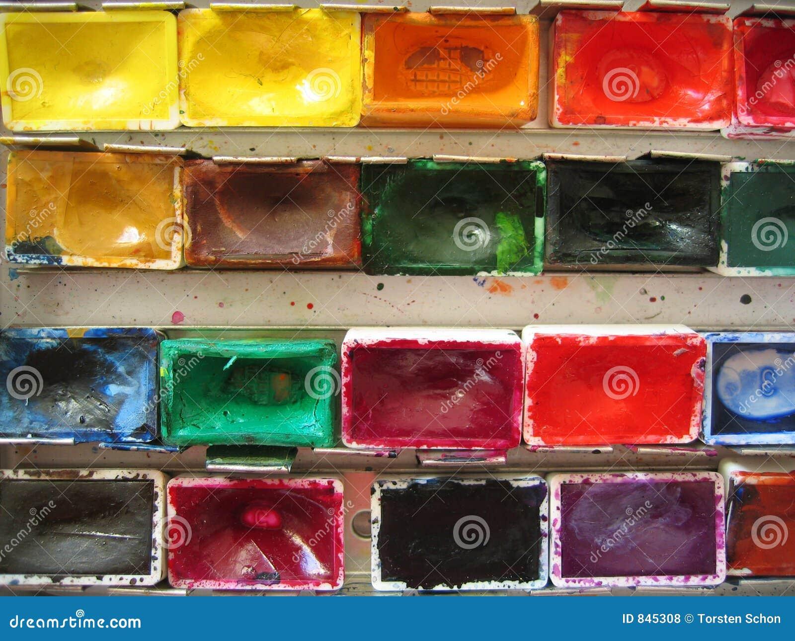 Paintbox closeup