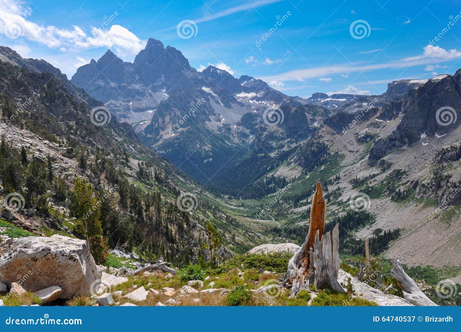 Paintbrush Canyon Trail in Grand Tetons National Park, Wyoming,