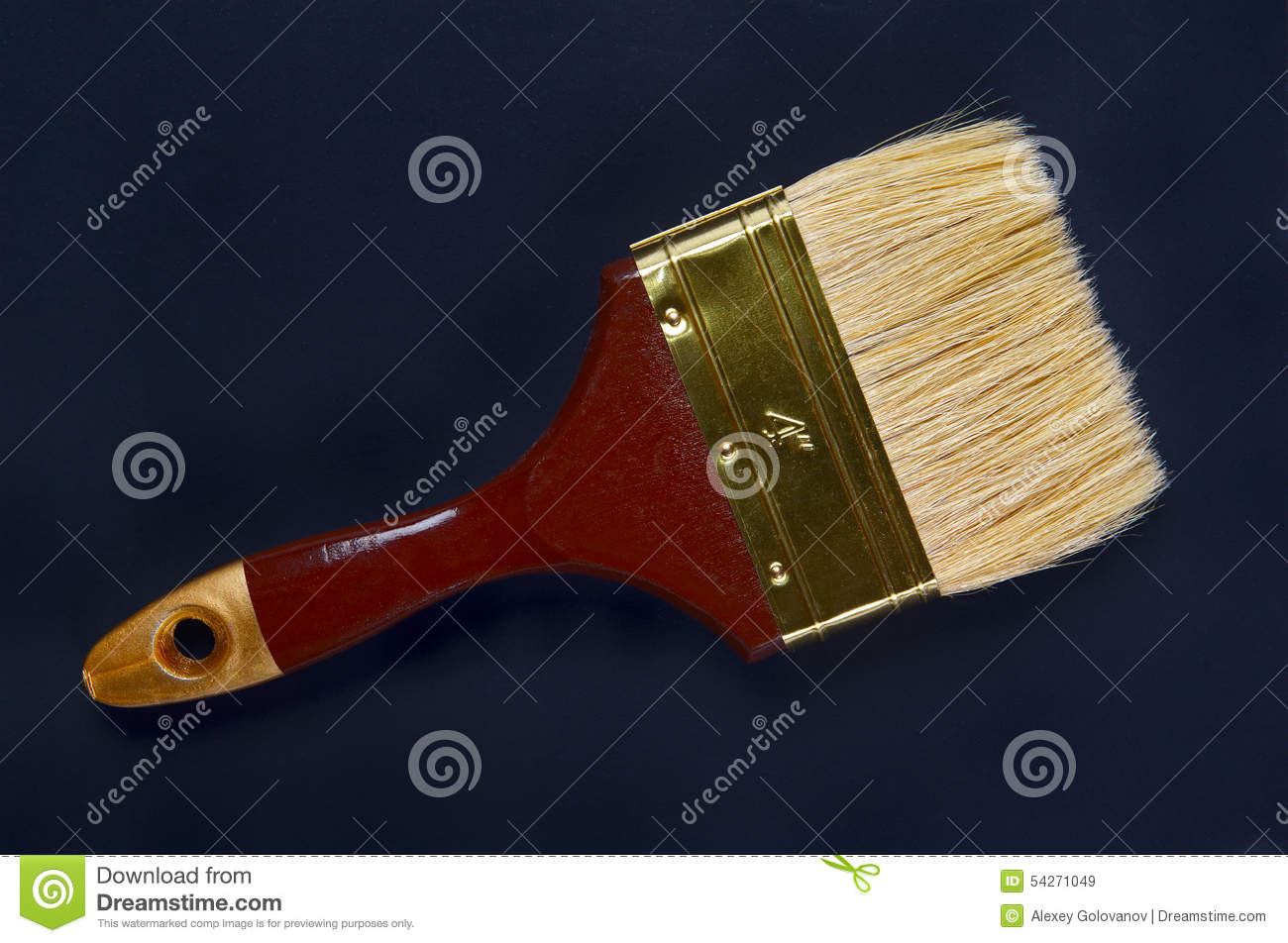 Paintbrush on a dark background