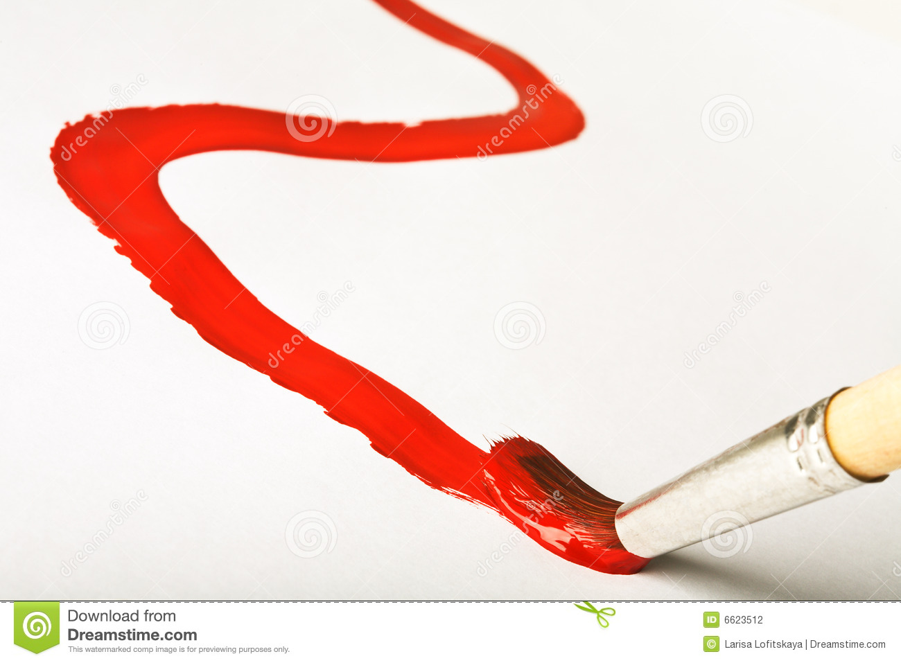 Paintbrush Paints Red Line Stock Photography Image 6623512