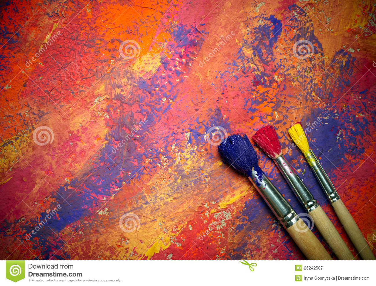 Ipad Retina Wallpaper Art Pain Brush: Paintbrushes On Abstract Background Royalty Free Stock