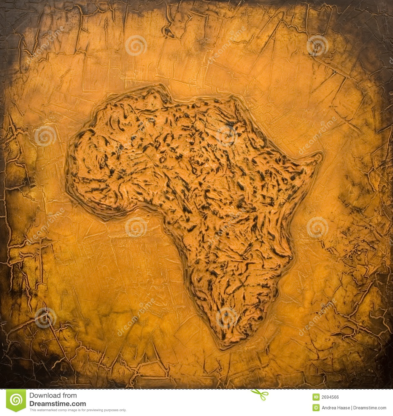 Africa Map Background.Painted African Map Stock Illustration Illustration Of Creativity