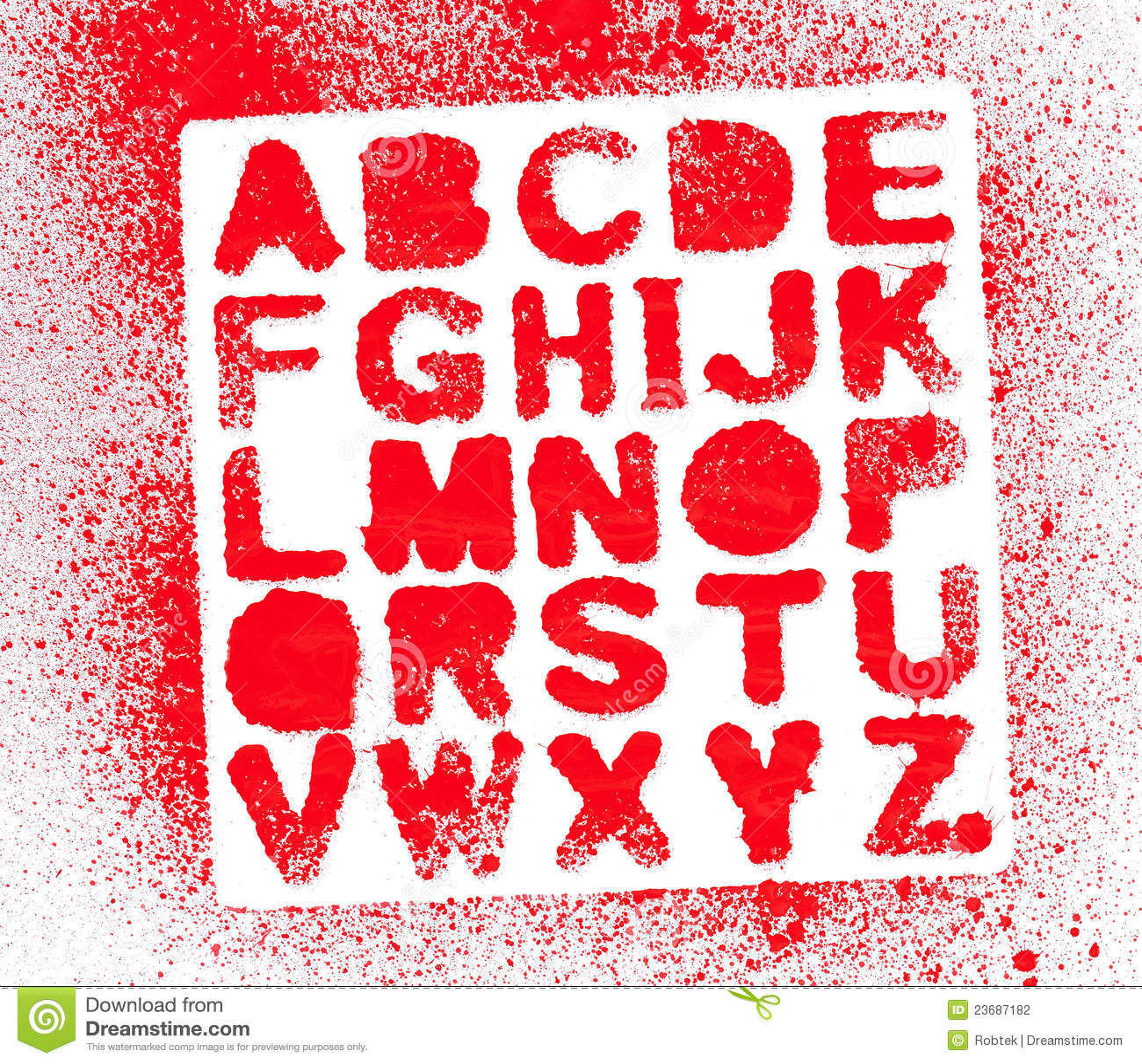 Painted Alphabet Stock Photo  Image Of Dirty  Symbol