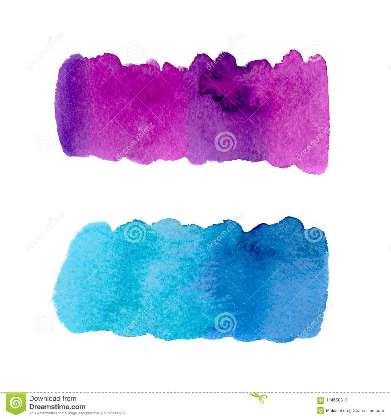 photo regarding Printable Backdrop identified as Painted Banners. Watercolor Printable Texture. Inventory Photograph