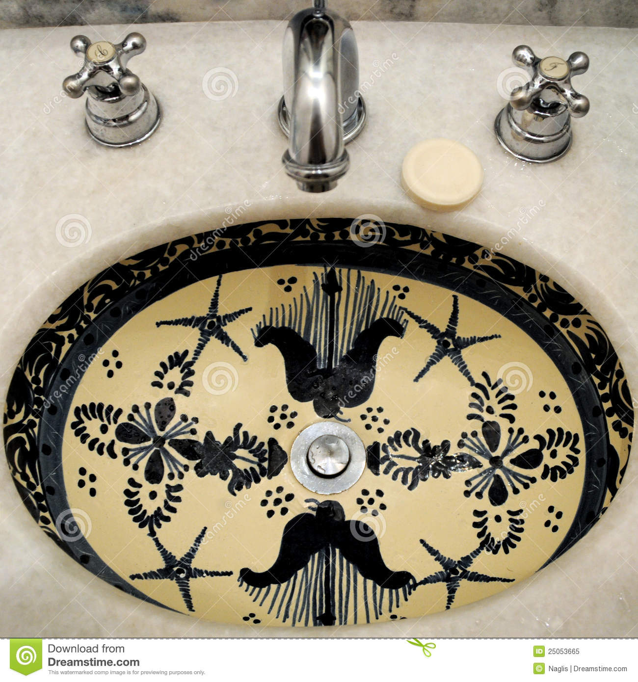 painted sinks in the bathroom painted bathroom sink royalty free stock photo image 23929