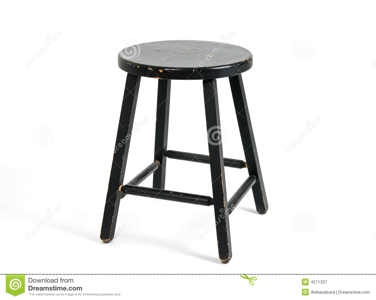 painted black wooden stool royalty free stock photography image 4571337. Black Bedroom Furniture Sets. Home Design Ideas