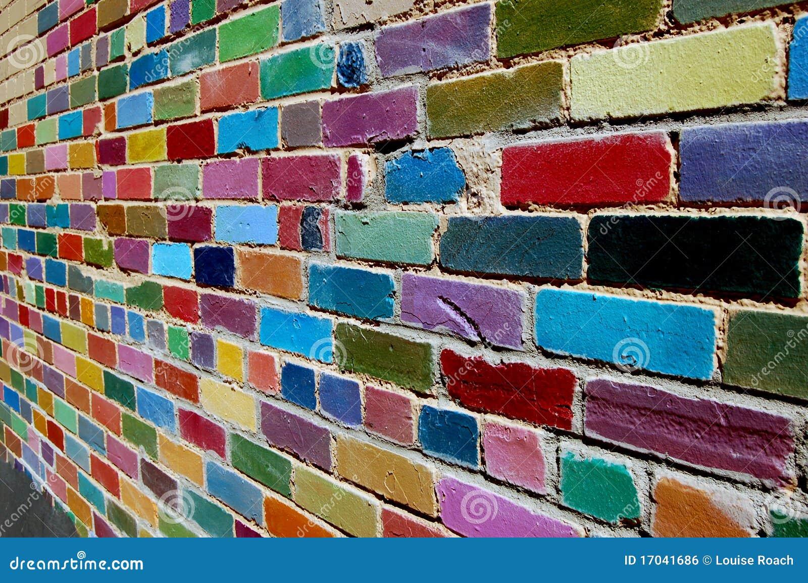 Painted Brick Wall Royalty Free Stock Image Image 17041686