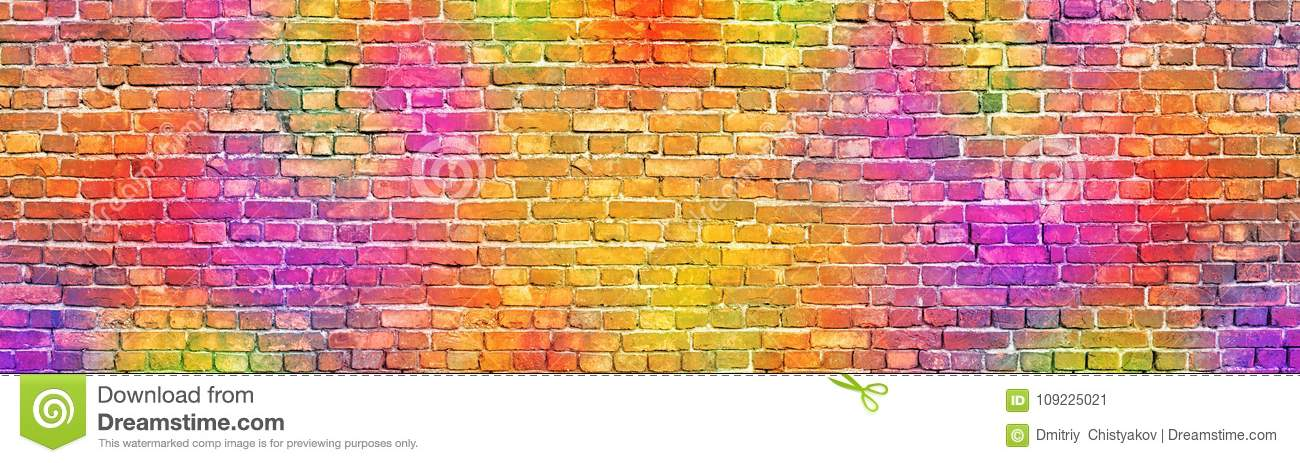 Incredible Painted Brick Wall Abstract Background A Diverse Color Home Interior And Landscaping Ologienasavecom