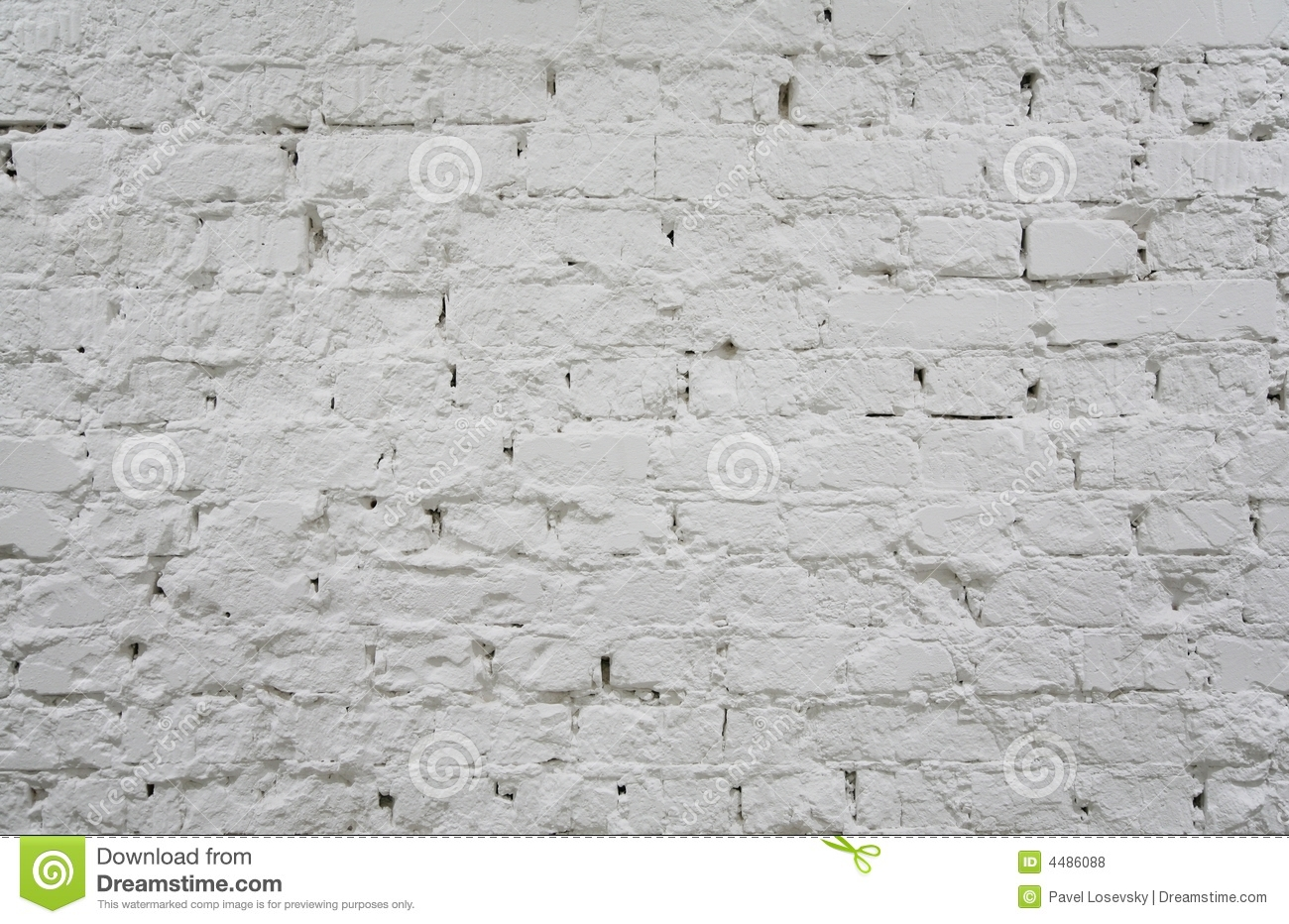 Painted Brick White Wall 2 Royalty Free Stock Photos