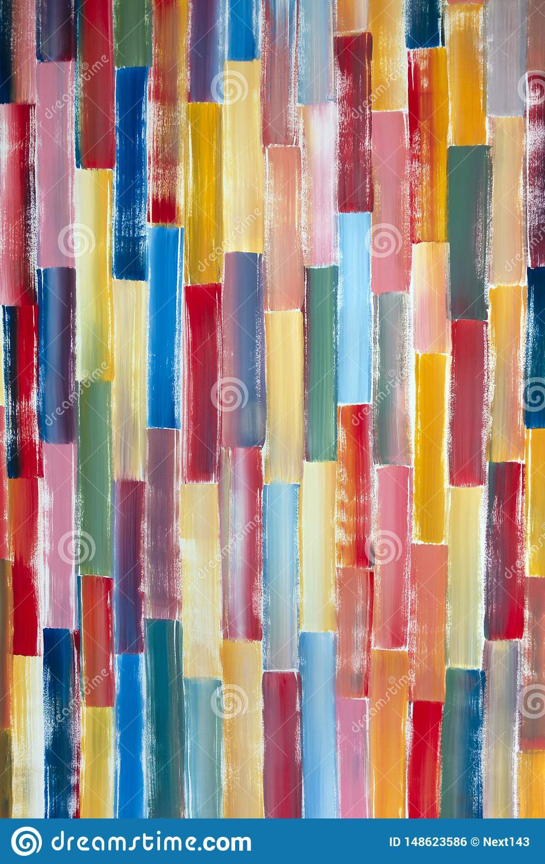A painted brush wall with multi colour in vertical