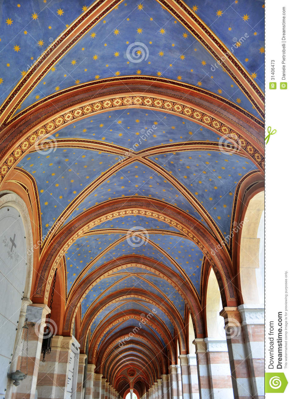 Painted ceiling stock photos image 31406473 for Archway ceilings