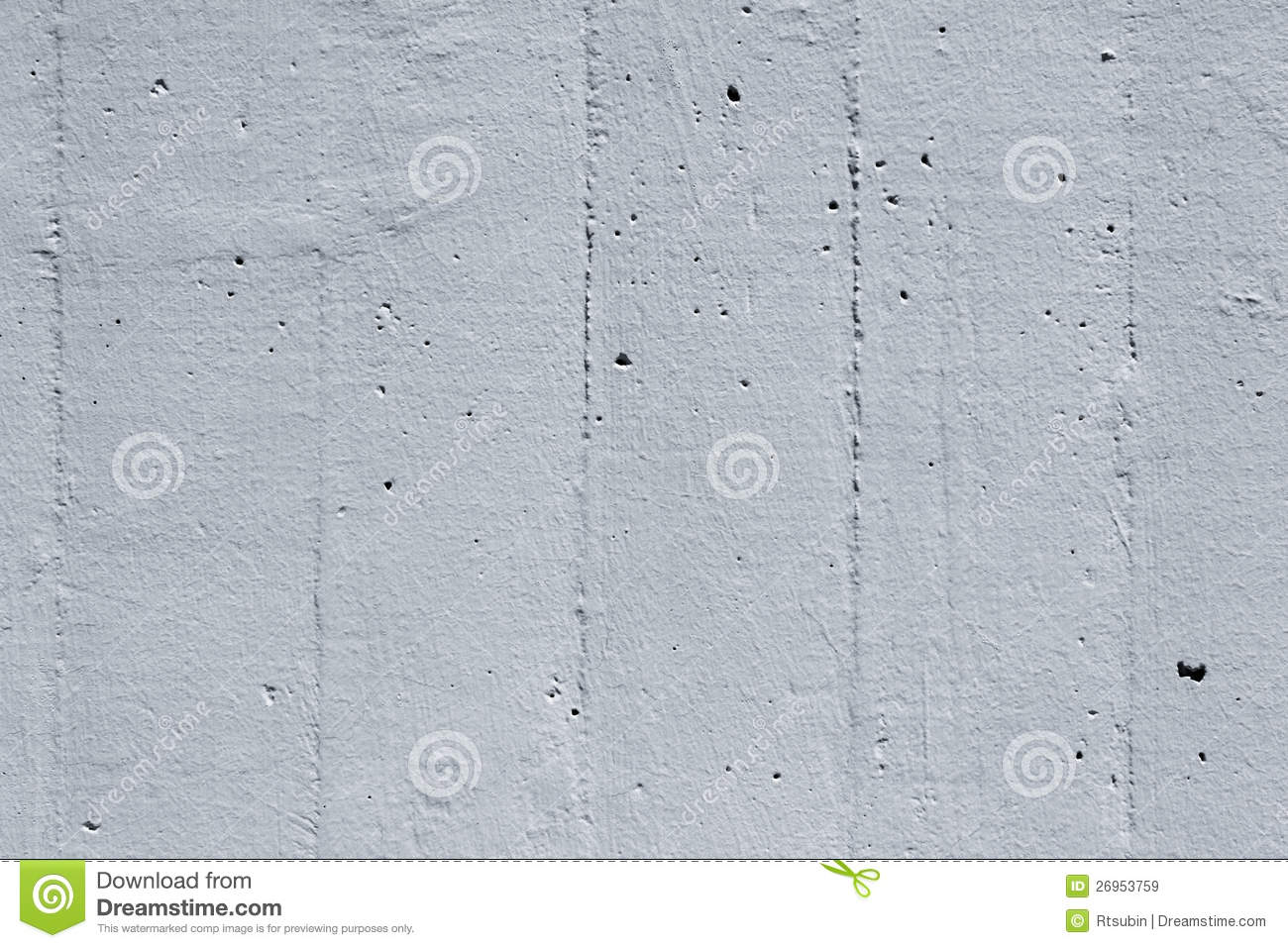Painted cement concrete wall