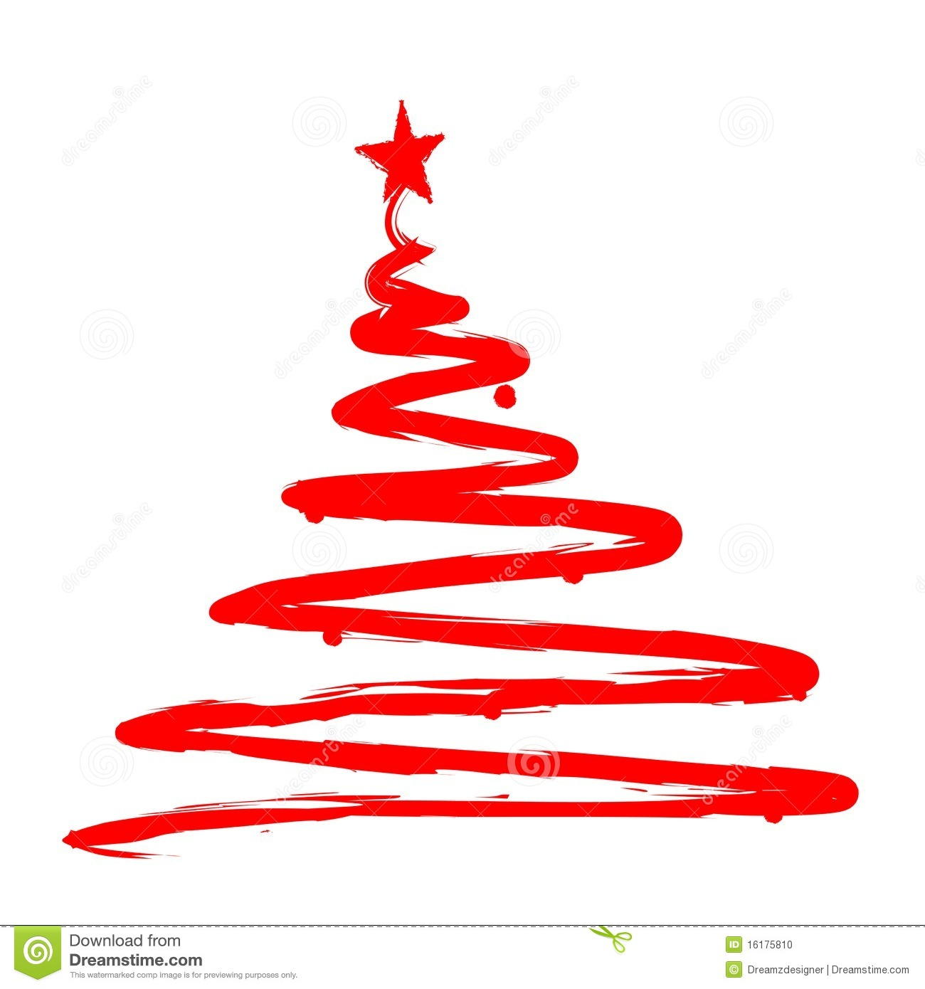 ribbon christmas tree royalty free stock image - image: 17087786