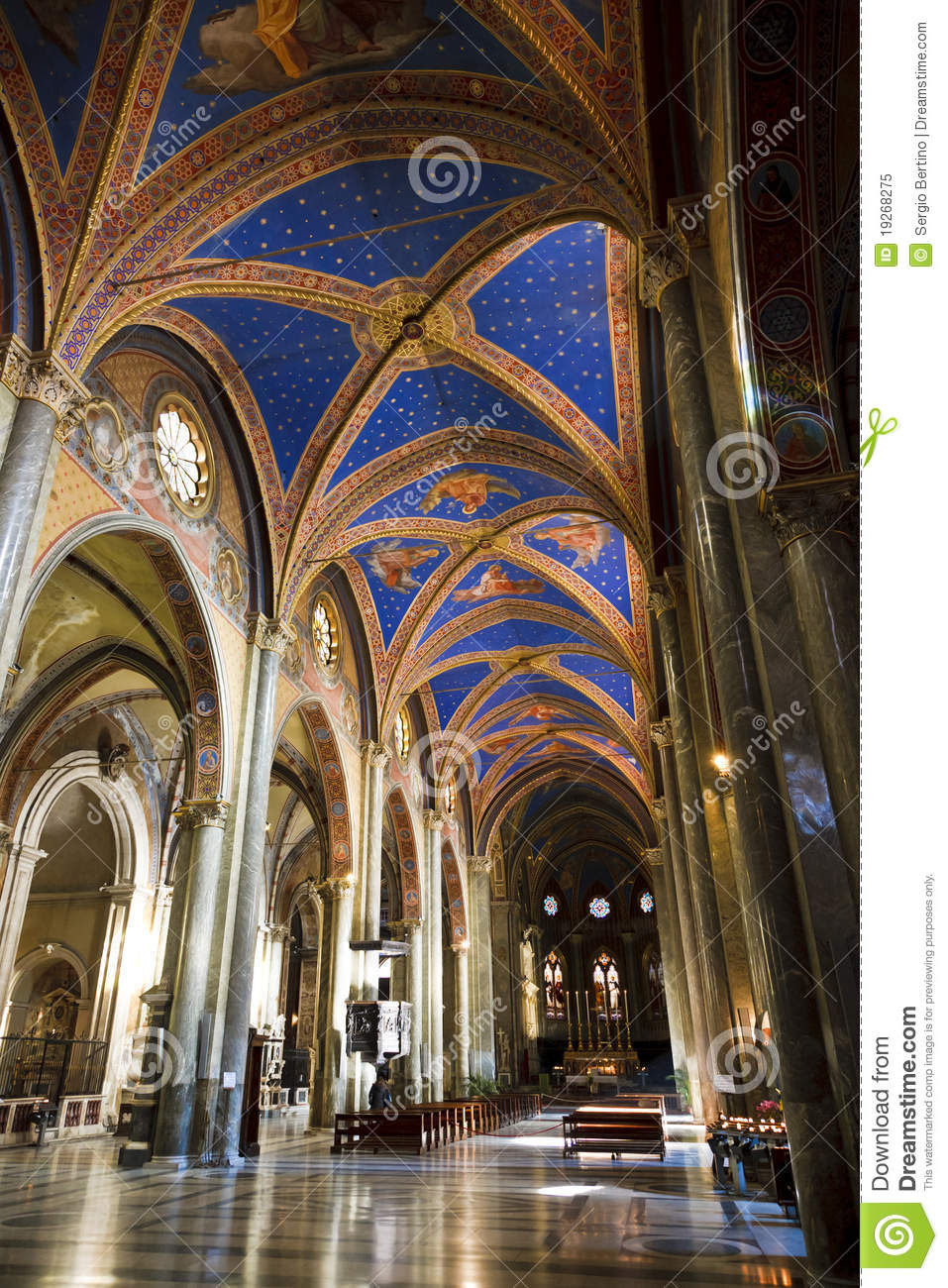 Painted Church Ceiling Royalty Free Stock Photo Image