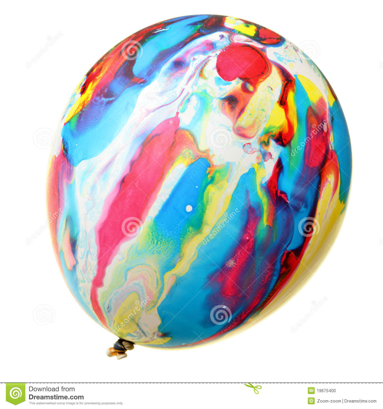 Painted colorful balloon