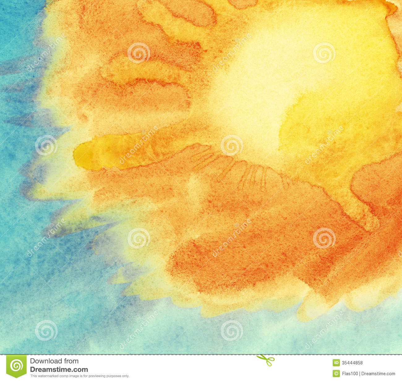 Painted Colorful Watercolor Background. Spring And Summer Theme ...