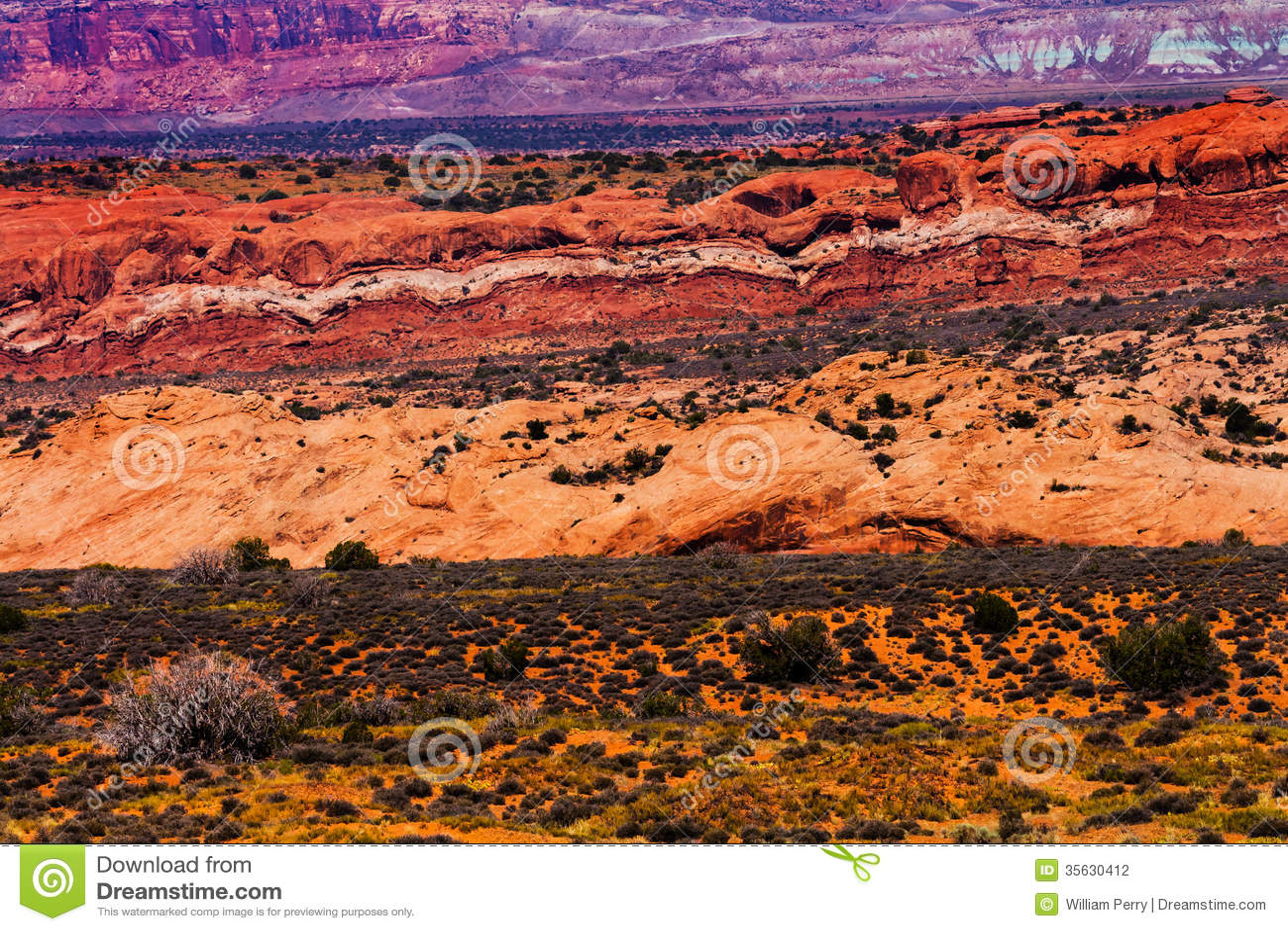 Painted Desert Yellow Orange Red Sandstone Arches National Park Moab Utah