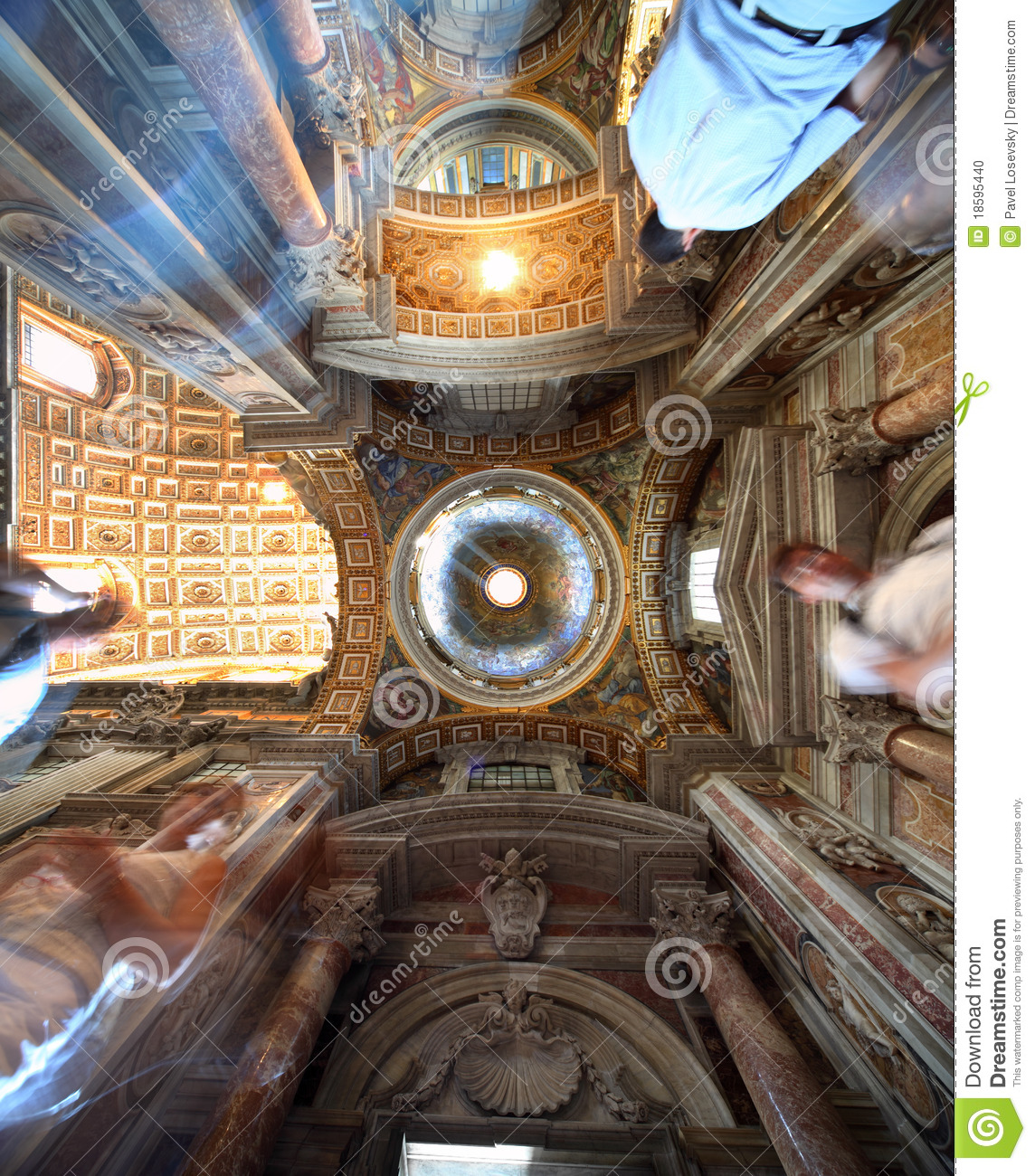 Painted dome in Papal Basilica of Saint Mary Major