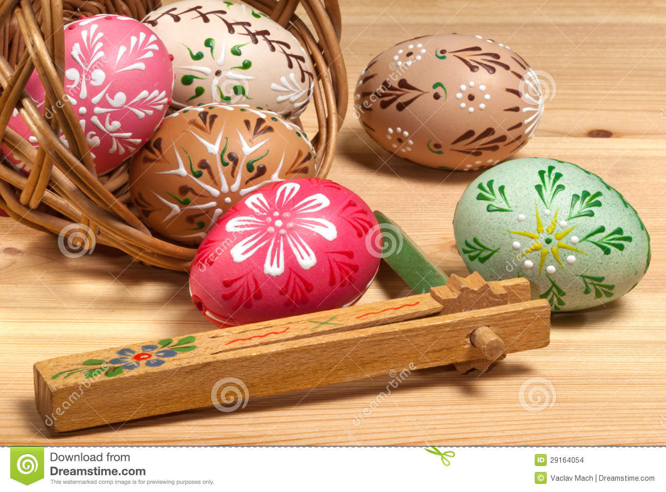 Painted Easter Eggs Stock Images Image 29164054