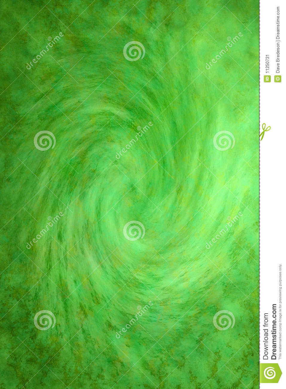 Painted Green Swirl Background