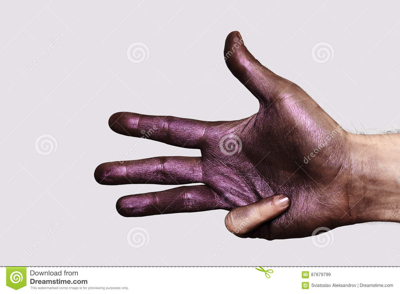 Painted Hand with four Fingers