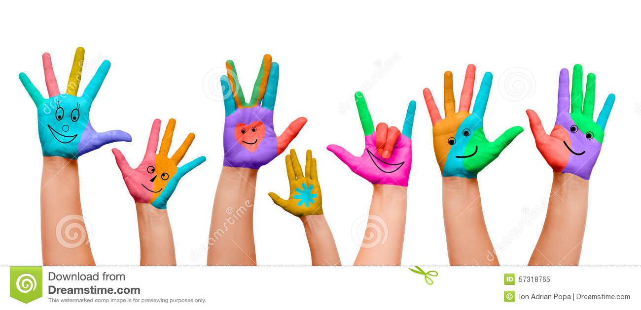 painted hands stock image image of hands small brush 57318765