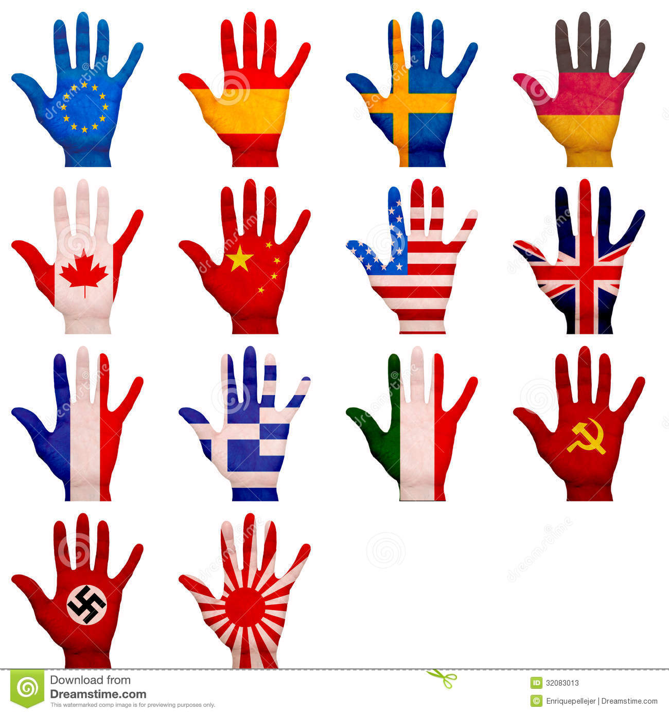 Painted Hands Stock Photos - Image: 32083013